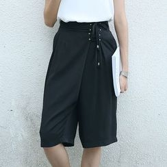 Sens Collection - Lace Up Waist Culottes