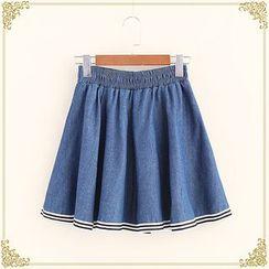 Fairyland - Pleated Denim Skirt