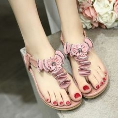 Anran - Flower Thong Sandals
