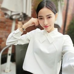 Lavogo - Long-Sleeve Plain Blouse