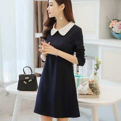 YUMU - Long-Sleeve A-Line Dress