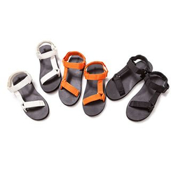 Ashen - Velcro-Strap Sandals