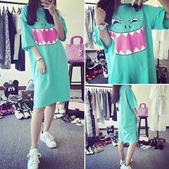 Melon Juice - Print T-Shirt Dress