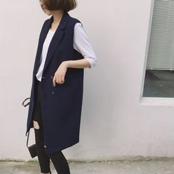 Eva Fashion - Double Breasted Long Vest