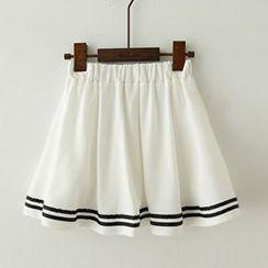 Meimei - Stripe A-Line Skirt