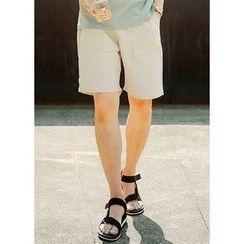 JOGUNSHOP - Drawstring-Waist Shorts