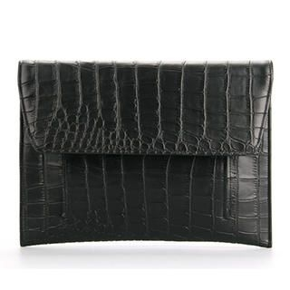Ethel - Croc-Crain Flap Clutch