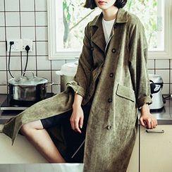 Plum Forest - Corduroy Long Coat