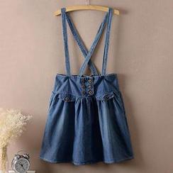 Lacuna - Denim Jumper Skirt