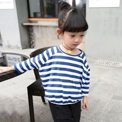 Merry Go Round - Kids Striped Long-Sleeve T-Shirt