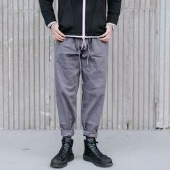YIDESIMPLE - Drawstring Straight-Fit Pants