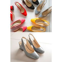 PPGIRL - Round-Toe Sling Back Pumps