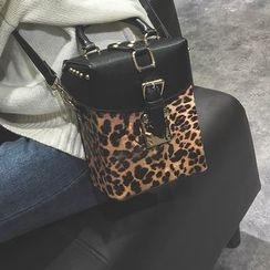 Secret Garden - Leopard Print Shoulder Bag