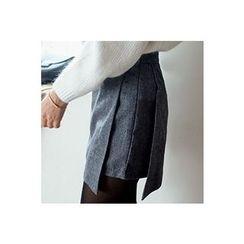 CHERRYKOKO - Wool Blend Wrap Skort