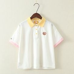 ninna nanna - Short-Sleeve Embroidered Polo Shirt