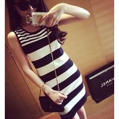Autunno - Striped Knit Tank Dress