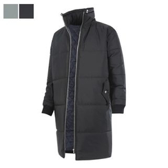 DANGOON - Stand-Collar Zip-Up Long Puffer Coat