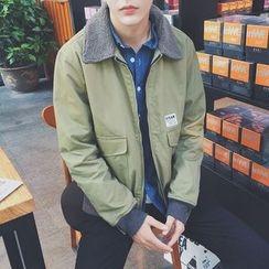 子俊 - 抓毛領夾層夾克