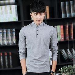 SOLER - Stand-collar Long-Sleeve T-shirt