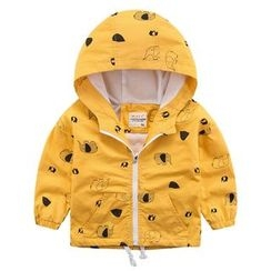 DEARIE - Kids Elephant Print Hooded Jacket