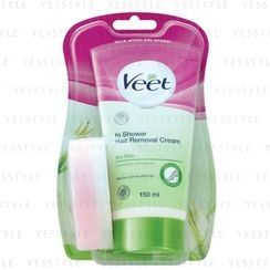 Veet In Shower Hair Removal Cream - Shea Butter & Lily (for dry skin) (Green)