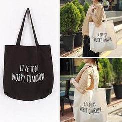 TangTangBags - Lettering Canvas Shopper Bag
