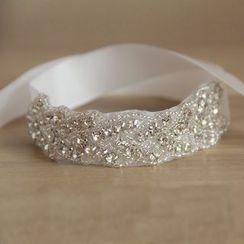 Neostar - Bridal Embellished Ribbon Bracelet