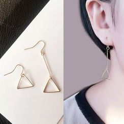 Cheermo - Non-matching Triangle Drop Earrings