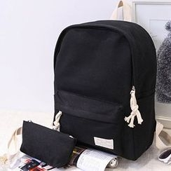 MooMoo Bags - Set: Canvas Backpack + Pouch