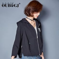 OUBO - Applique Hooded Jacket