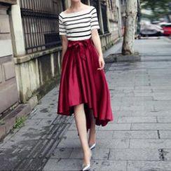 Flore - Dip-Back Long Skirt