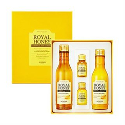 Skinfood - Royal Honey Essential Skin Care Set: Toner 80ml + 20ml + Emulsion 80ml + 20ml