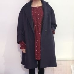 YUKISHU - Notch Lapel Snap Button Coat