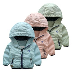 Seashells Kids - Kids Hooded Windbreaker