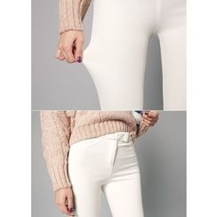 J-ANN - Brushed-Fleece Leggings Pants