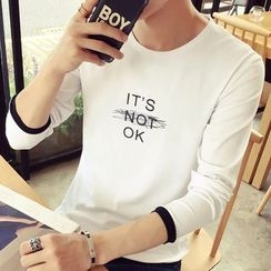 Besto - Lettering Long-Sleeve T-Shirt