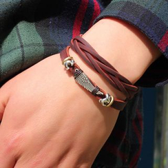 KINNO - Braided Genuine Leather Bracelet