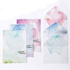云木良品 - 信纸信封套装: 4张信纸 + 2个信封