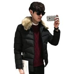 AOBIN - Furry Collar Padded Jacket