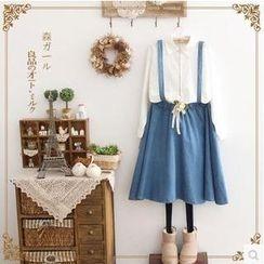 Forest Girl - Denim Jumper Skirt