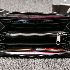 BagBuzz - Striped Zip Around Long Wallet