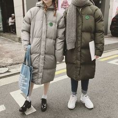 qiaqiayes - Hooded Long Padded Coat