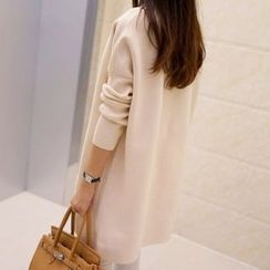 anzoveve - Drop Shoulder Long Cardigan