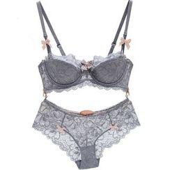 Osemiss - Set: Lace Trim Bra + Panties