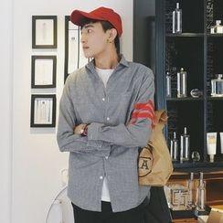 Mr. Cai - Long-Sleeve Check Shirt
