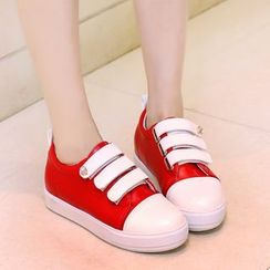 JY Shoes - Contrast Velcro Sneakers
