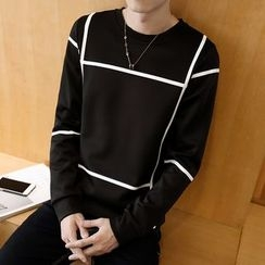Bay Go Mall - Contrast Trim Pullover