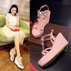 Romantina - Platform Wedge Sandals