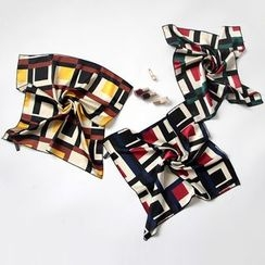 Digesida - Patterned Square Satin Scarf