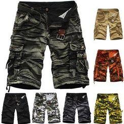 Aozora - Printed Cargo Shorts
